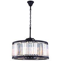 Elegant Lighting 1233D28MB/RC Chelsea 8 Light 28 inch Matte Black Chandelier Ceiling Light Urban Classic