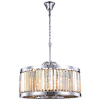 Elegant Lighting 1233D28PN-GT/RC Chelsea 8 Light 28 inch Polished Nickel Chandelier Ceiling Light Urban Classic