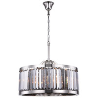 Elegant Lighting 1233D28PN-SS/RC Chelsea 8 Light 28 inch Polished Nickel Chandelier Ceiling Light Urban Classic