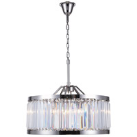 Elegant Lighting 1233D28PN/RC Chelsea 8 Light 28 inch Polished Nickel Chandelier Ceiling Light Urban Classic