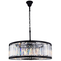 Chelsea 10 Light 36 inch Matte Black Chandelier Ceiling Light, Urban Classic