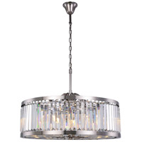 Chelsea 10 Light 36 inch Polished Nickel Chandelier Ceiling Light, Urban Classic