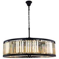 Chelsea 10 Light 44 inch Matte Black Chandelier Ceiling Light, Urban Classic