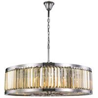 Elegant Lighting 1233G43PN-GT/RC Chelsea 10 Light 44 inch Polished Nickel Chandelier Ceiling Light Urban Classic
