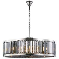 Elegant Lighting 1233G43PN-SS/RC Chelsea 10 Light 44 inch Polished Nickel Chandelier Ceiling Light Urban Classic