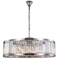 Elegant Lighting 1233G43PN/RC Chelsea 10 Light 44 inch Polished Nickel Chandelier Ceiling Light Urban Classic