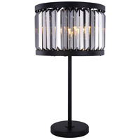 Chelsea 32 inch 60 watt Matte Black Table Lamp Portable Light, Urban Classic