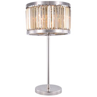 Elegant Lighting 1233TL18PN-GT/RC Chelsea 32 inch 60 watt Polished Nickel Table Lamp Portable Light Urban Classic