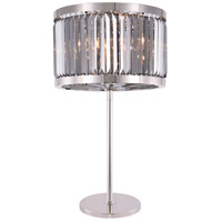 Chelsea 32 inch 60 watt Polished Nickel Table Lamp Portable Light, Urban Classic