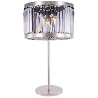 Elegant Lighting 1233TL18PN/RC Chelsea 32 inch 60 watt Polished Nickel Table Lamp Portable Light Urban Classic