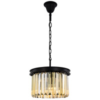 Sydney 3 Light 16 inch Matte Black Pendant Ceiling Light, Urban Classic