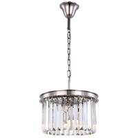 Sydney 3 Light 16 inch Polished Nickel Pendant Ceiling Light, Urban Classic