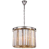 Elegant Lighting 1238D20PN-GT/RC Sydney 6 Light 20 inch Polished Nickel Pendant Ceiling Light Urban Classic