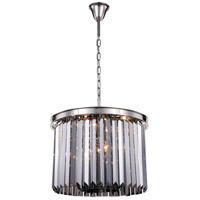 Elegant Lighting 1238D20PN-SS/RC Sydney 6 Light 20 inch Polished Nickel Pendant Ceiling Light Urban Classic