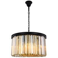 Sydney 8 Light 26 inch Matte Black Chandelier Ceiling Light, Urban Classic