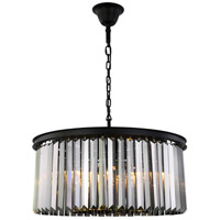Elegant Lighting 1238D31MB-SS/RC Sydney 8 Light 32 inch Matte Black Chandelier Ceiling Light Urban Classic