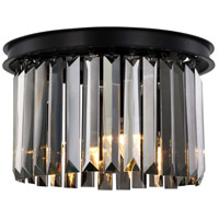 Sydney 3 Light 16 inch Matte Black Flush Mount Ceiling Light, Urban Classic