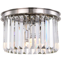 Sydney 3 Light 16 inch Polished nickel Flush Mount Ceiling Light, Urban Classic
