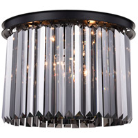 Sydney 6 Light 20 inch Matte Black Flush Mount Ceiling Light, Urban Classic