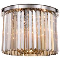 Elegant Lighting 1238F20PN-GT/RC Sydney 6 Light 20 inch Polished nickel Flush Mount Ceiling Light in Golden Teak Urban Classic