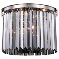 Sydney 6 Light 20 inch Polished nickel Flush Mount Ceiling Light, Urban Classic
