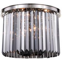 Elegant Lighting 1238F20PN-SS/RC Sydney 6 Light 20 inch Polished nickel Flush Mount Ceiling Light in Silver Shade Urban Classic