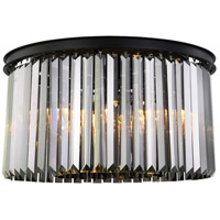 Sydney 8 Light 26 inch Matte Black Flush Mount Ceiling Light, Urban Classic