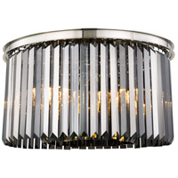 Sydney 8 Light 26 inch Polished nickel Flush Mount Ceiling Light, Urban Classic