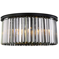 Sydney 8 Light 32 inch Matte Black Flush Mount Ceiling Light, Urban Classic