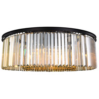 Sydney 10 Light 44 inch Matte Black Flush Mount Ceiling Light, Urban Classic