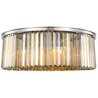Sydney 10 Light 44 inch Polished nickel Flush Mount Ceiling Light, Urban Classic