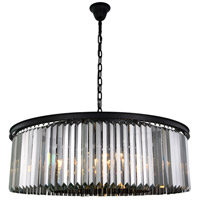Sydney 10 Light 44 inch Matte Black Chandelier Ceiling Light, Urban Classic