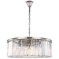 Sydney 10 Light 44 inch Polished Nickel Chandelier Ceiling Light, Urban Classic