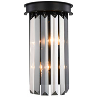 Sydney 2 Light 8 inch Matte Black Wall Sconce Wall Light, Urban Classic