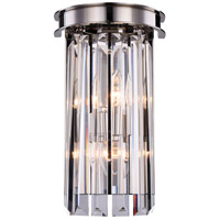 Sydney 2 Light 8 inch Polished Nickel Wall Sconce Wall Light, Urban Classic
