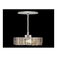 Elegant Lighting Mini 1 Light Pendant in Chrome with Swarovski Strass Golden Teak Crystal 1281D-R-E-GT/SS