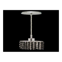 Elegant Lighting Mini 1 Light Pendant in Chrome with Swarovski Strass Jet Black Crystal 1281D-R-E-JT/SS