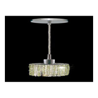 Elegant Lighting Mini 1 Light Pendant in Chrome with Swarovski Strass Light Peridot Crystal 1281D-R-E-LP/SS