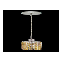 Elegant Lighting Mini 1 Light Pendant in Chrome with Swarovski Strass Light Topaz Crystal 1281D-R-E-LT/SS