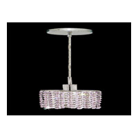 Elegant Lighting Mini 1 Light Pendant in Chrome with Royal Cut Rosaline Crystal 1281D-R-E-RO/RC