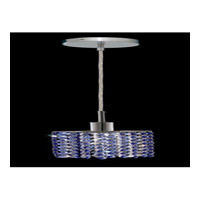 Elegant Lighting Mini 1 Light Pendant in Chrome with Swarovski Strass Sapphire Crystal 1281D-R-E-SA/SS
