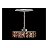 Elegant Lighting Mini 1 Light Pendant in Chrome with Swarovski Strass Topaz Crystal 1281D-R-E-TO/SS