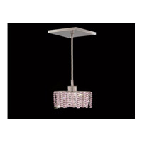 Elegant Lighting Mini 1 Light Pendant in Chrome with Royal Cut Rosaline Crystal 1281D-S-E-RO/RC