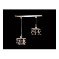 Elegant Lighting Mini 2 Light Pendant in Chrome with Royal Cut Jet Black Crystal 1282D-O-E-JT/RC