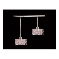Elegant Lighting Mini 2 Light Pendant in Chrome with Royal Cut Rosaline Crystal 1282D-O-E-RO/RC