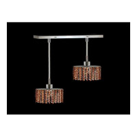 Elegant Lighting Mini 2 Light Pendant in Chrome with Royal Cut Topaz Crystal 1282D-O-E-TO/RC