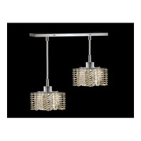 Elegant Lighting Mini 2 Light Pendant in Chrome with Royal Cut Golden Teak Crystal 1282D-O-P-GT/RC