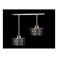 Elegant Lighting Mini 2 Light Pendant in Chrome with Swarovski Strass Jet Black Crystal 1282D-O-P-JT/SS