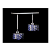 Elegant Lighting Mini 2 Light Pendant in Chrome with Royal Cut Sapphire Crystal 1282D-O-P-SA/RC