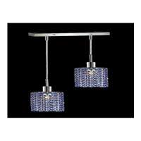 Elegant Lighting Mini 2 Light Pendant in Chrome with Royal Cut Sapphire Crystal 1282D-O-R-SA/RC